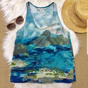 Joie Hawaiian Silk Tank